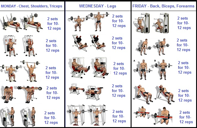 3 Day a Week Routine