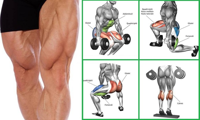 Leg Routine - Only Dumbbells