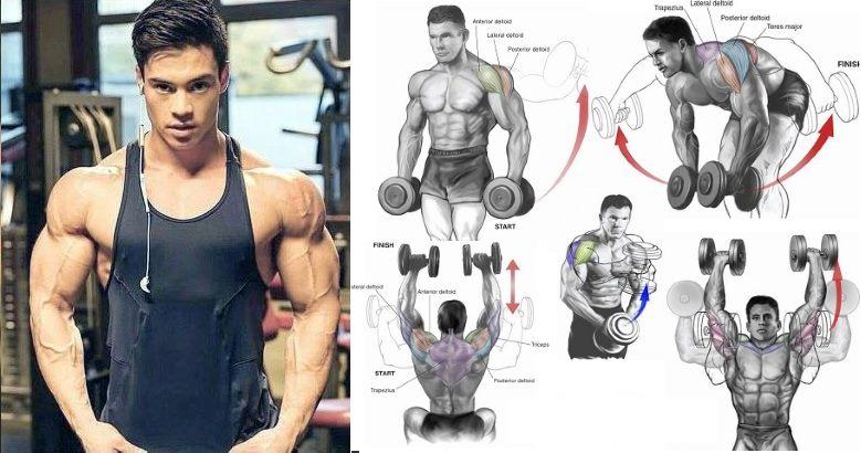 The 5 Most Effective Shoulder Dumbbell Exercises for V-taper Physique